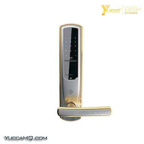 قفل دیجیتال لوکس آپارتمانی قفل اثر انگشتی مدل CROWN