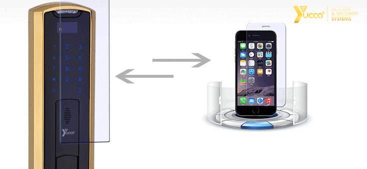صفحه نمایش قفل اثر انگشتی