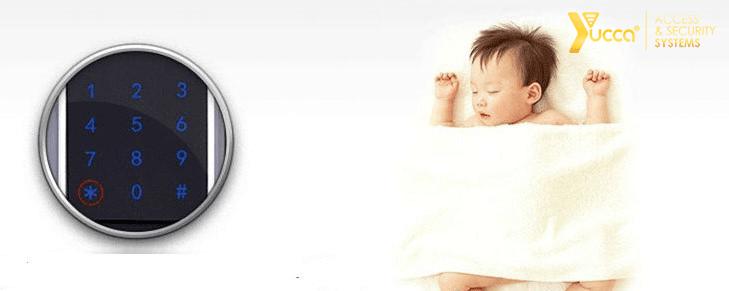بیصدا کردن قفل دیجیتال اثر انگشتی یوکا