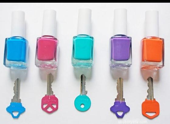 تزئین کلیدها با لاک