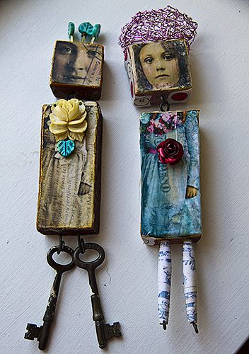 ساخت عروسک برای بچه ها با کلید های دور ریختنی