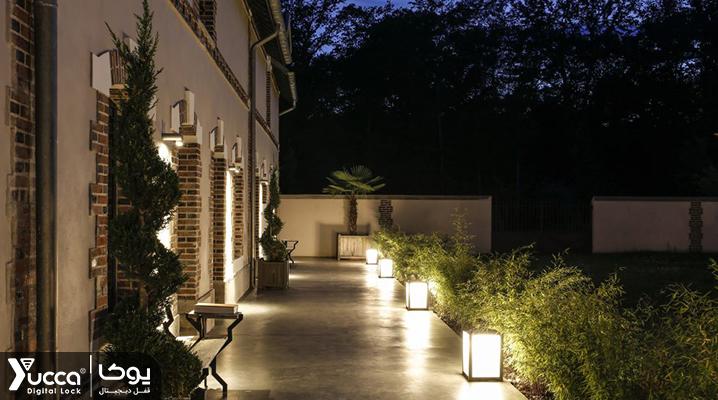 نورپردازی LED در فضای خارجی هتل ها - تجهیزات هتلی