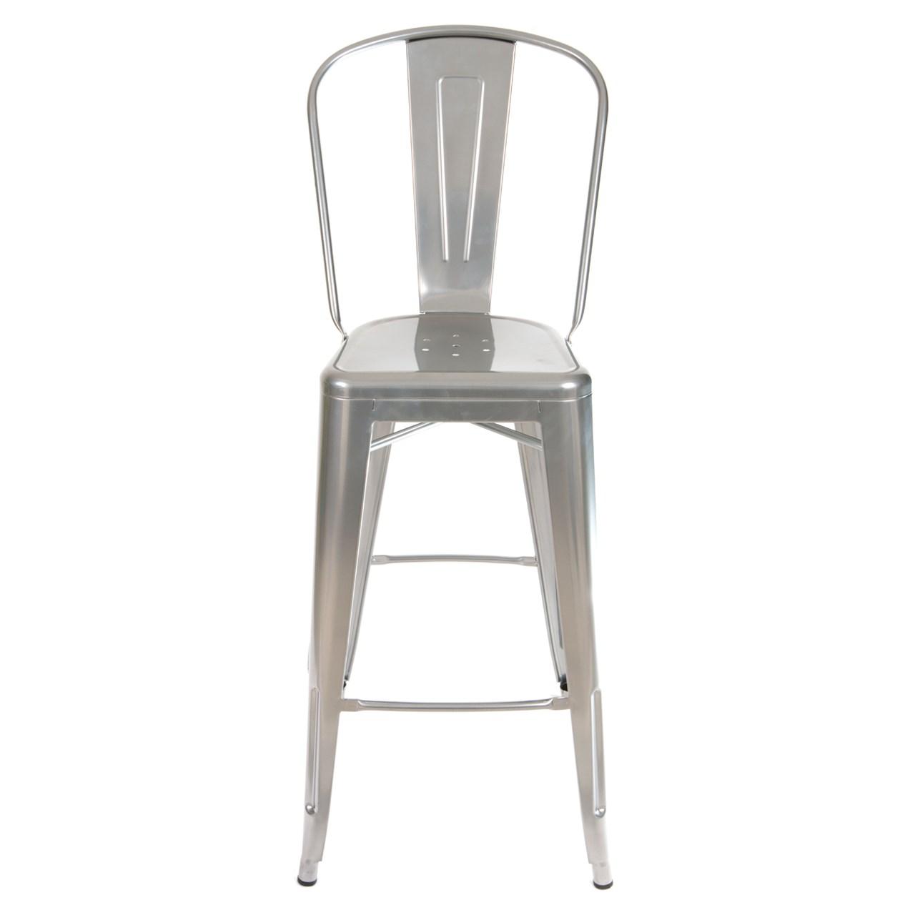 صندلی بار نقره ای در دکوراسیون خانه لوکس