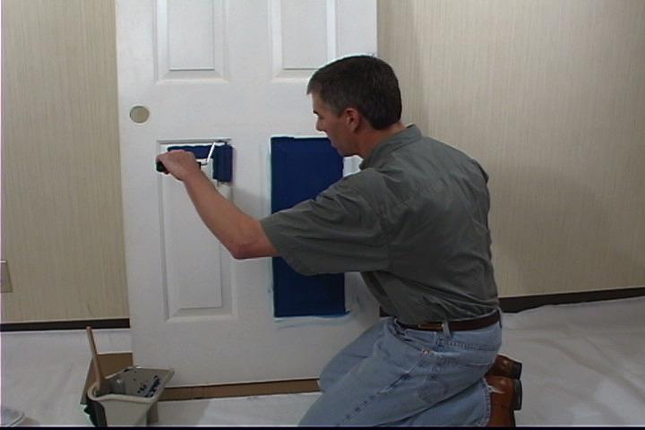 آموزش رنگ کردن درب ضد سرقت و درب های چوبی