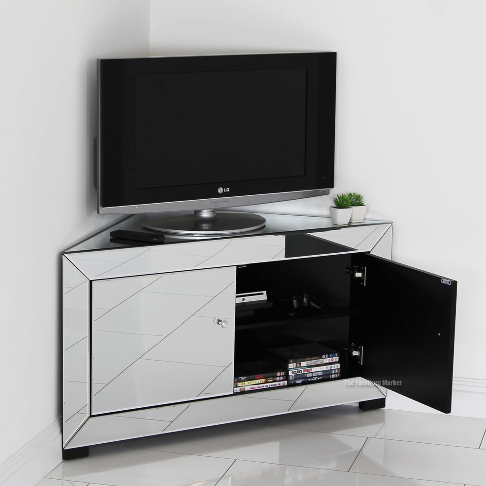 میز تلویزیونی نقره ای در دکوراسیون خانه مدرن