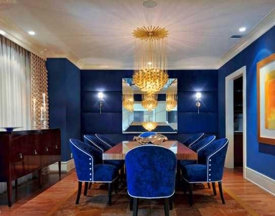 ترکیب رنگ طلایی آبی در دکوراسیون خانه