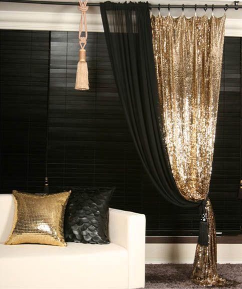 پرده طلایی در دکوراسیون خانه