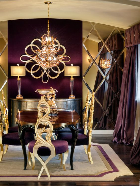 مبلمان طلایی در دکوراسیون خانه