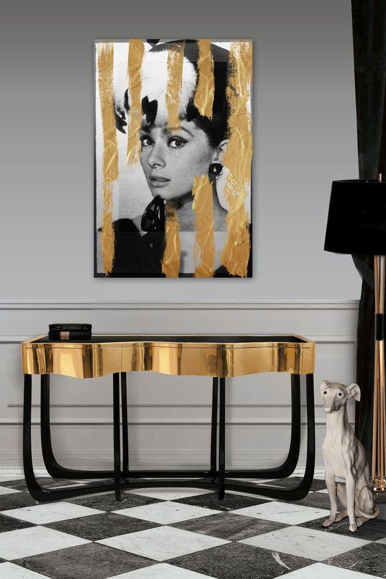 ترکیب رنگ مشکی طلایی در دکوراسیون خانه