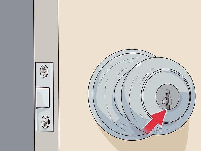 نحوه باز کردن قفل درب