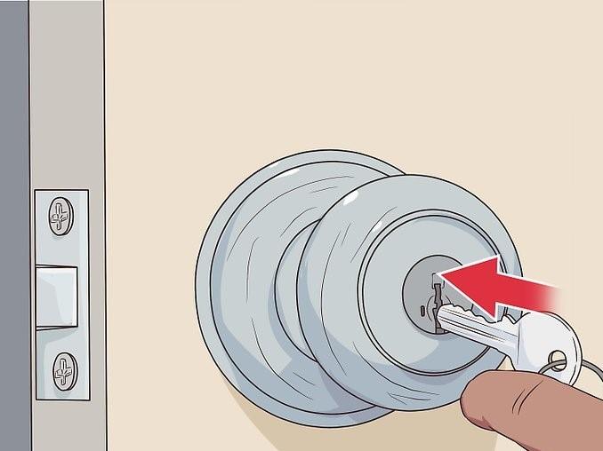 روش باز کردن قفل درب