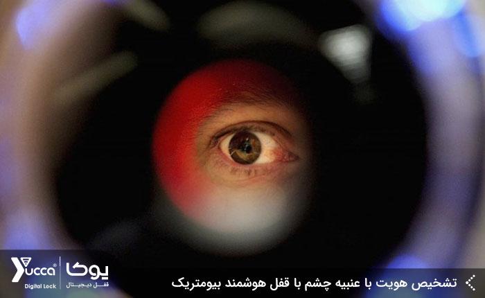 تشخیص هویت با عنبیه چشم با قفل هوشمند بیومتریک