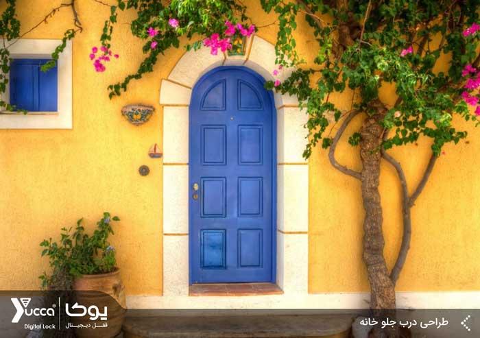 طراحی درب جلو خانه