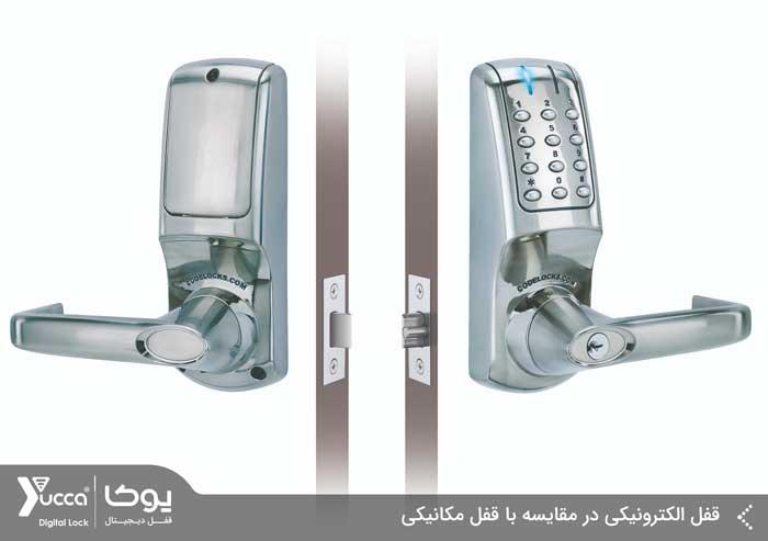 قفل الکترونیکی در مقایسه با قفل مکانیکی